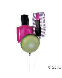 Spa Party Mylar Balloons