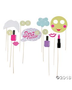 Spa Party Photo Stick Props