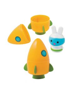 Space Bunny-Filled Carrot Rocket Plastic Easter Eggs