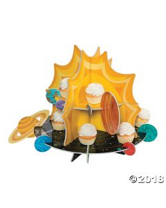 Space Party Rocket Cupcake Stand