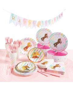 Sparkle Unicorn Tableware Party Kit for 24