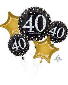 Sparkling Birthday 40 Balloon Bouquet