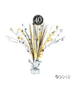 Sparkling Celebration 40TH Birthday Centrepiece