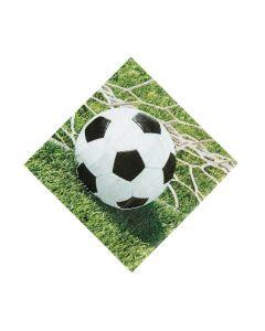Sports Fanatic Soccer Luncheon Napkins