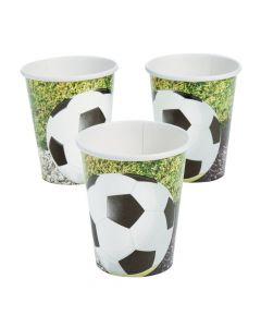 Sports Fanatic Soccer Paper Cups