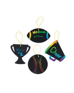 Sports VBS Magic Color Scratch Ornaments