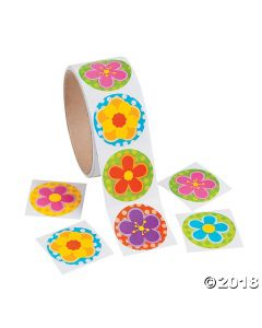 Spring Bright Flower Stickers