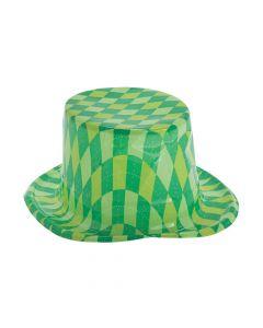 St. Patrick's Day Plaid Top Hats