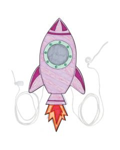 Steam Color Your Own Rocket Pulley Craft Kit