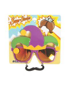 Sun-Staches Mardi Gras Sunglasses