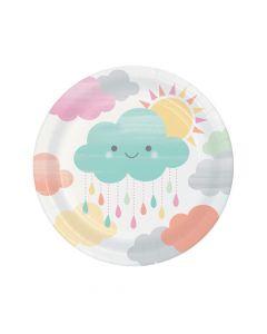 Sunshine Baby Shower Paper Dessert Plates