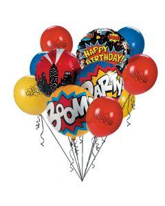 Superhero Birthday Balloon Bouquet