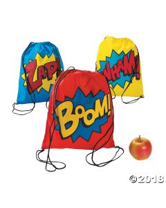 Superhero Drawstring Backpacks