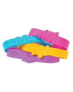 Superhero Girl Sayings Rubber Bracelets