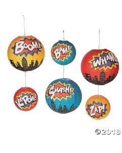 Superhero Hanging Paper Lanterns