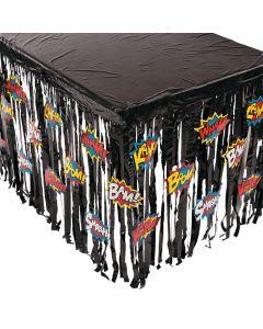 Superhero Table Skirt with Cutouts