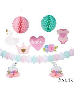 Sweet Swan Baby Shower Decor Kit