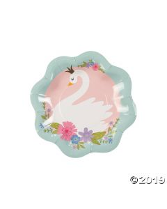 Sweet Swan Paper Dessert Plates