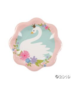 Sweet Swan Paper Dinner Plates