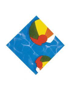 Swimming Pool Luncheon Napkins