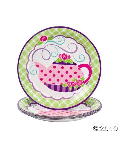 Tea Party Paper Dinner Plates