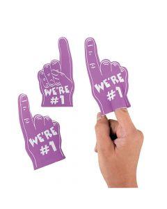 Team Spirit Purple Mini Foam Fingers