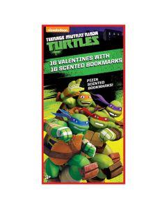 Teenage Mutant Ninja Turtles Valentines with Scented Bookmarks