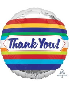Thank You Stripes Foil Balloon