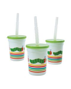 The Very Hungry Caterpillar Plastic Tumblers with Lids and Straw