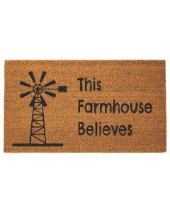 This Farmhouse Believes Coir Mat