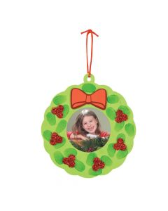 Thumbprint Wreath Picture Frame Christmas Ornament Craft Kit