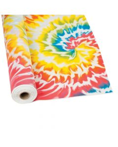 Tie Dye Plastic Tablecloth Roll