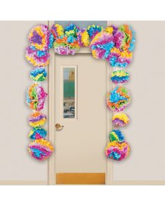 Tissue Paper Flower Fiesta Door Border