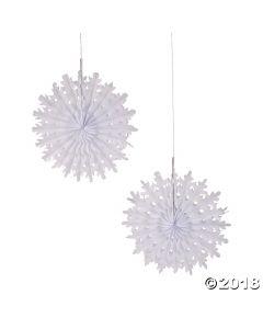 Tissue Snowflakes 38CM