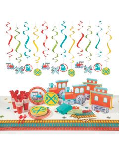 Train Party Tableware Kit for 24 Guests