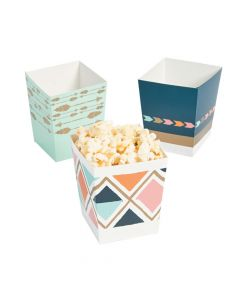 Tribal Baby Shower Popcorn Boxes