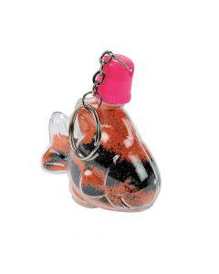 Tropical Fish Sand Art Bottle Key Chains