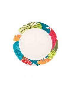 Tropical Leaf Paper Dessert Plates