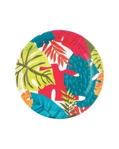 Tropical Leaf Paper Dinner Plates