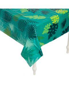 Tropical Leaf Plastic Tablecloth