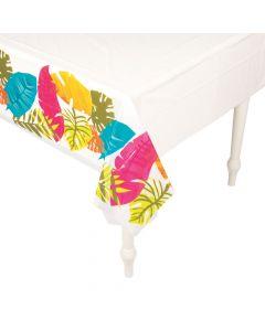 Tropical Leaf Printed Plastic Tablecloth