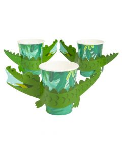 Tropical Paper Cups with Sleeves