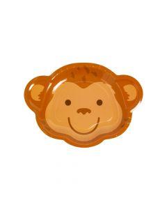 Tropical Party Monkey Dessert Plates