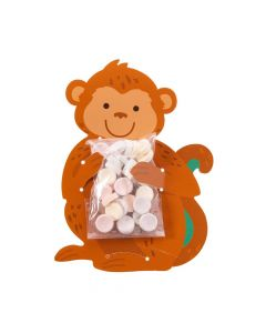 Tropical Party Monkey-Shaped Treat Bags