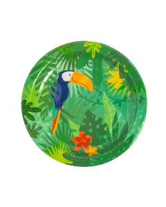 Tropical Party Paper Dinner Plates
