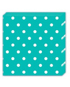 Turquoise Dots Lunch Napkin