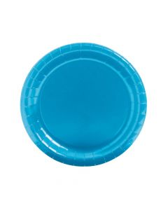 Turquoise Round Paper Dinner Plates