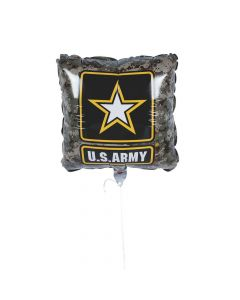 U.S. Army Camo Logo Mylar Balloons