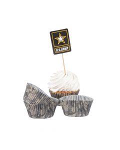 U.S. Army Logo Cupcake Wrappers with Picks
