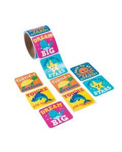 Under the Sea Jumbo Roll Stickers